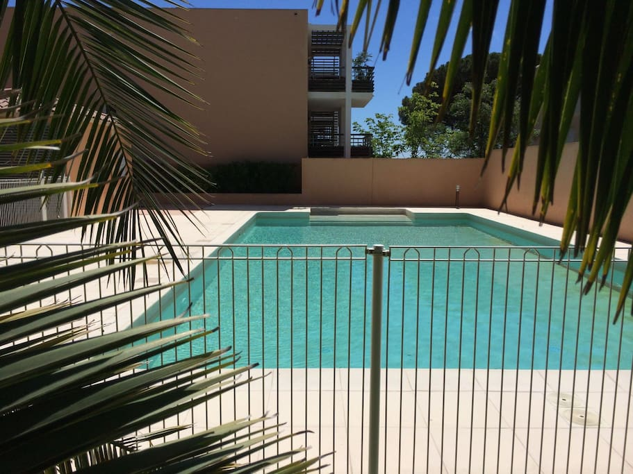 grande piscine 15×5 possibilité de ramener transats au bord de la piscine