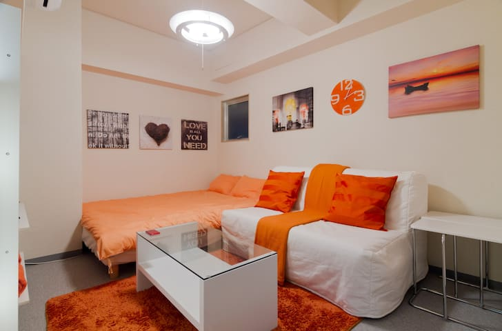 Small, Cozy, Central and... ORANGE! - Osaka - Huoneisto