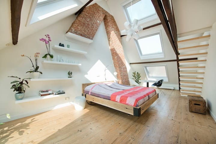 Design loft in historic building - Antwerpen - Ház