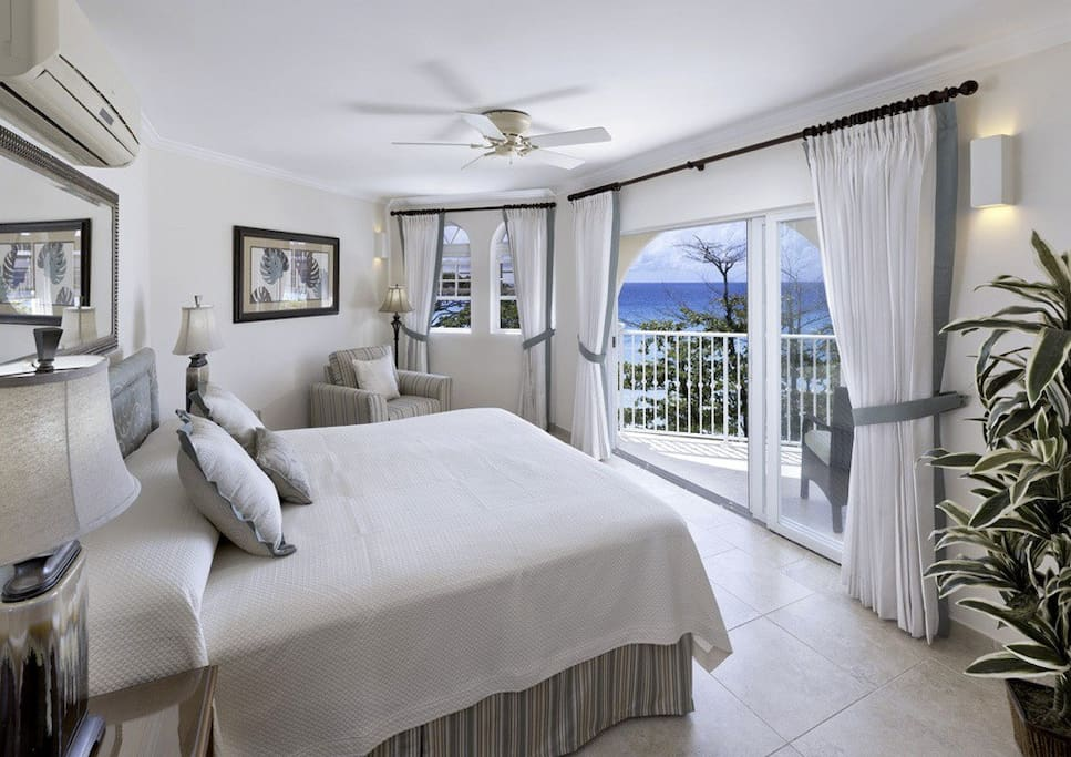 A/C beachfront master suite with a stunning view