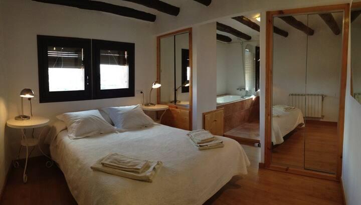 Habitación con jacuzzi en Montsonis