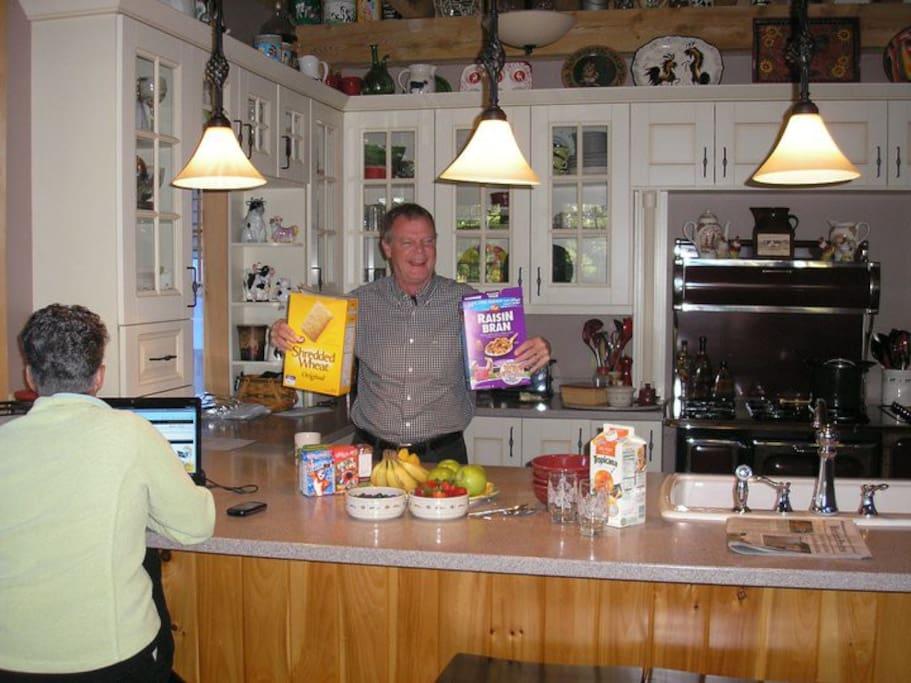 Bob serving up breakfast!