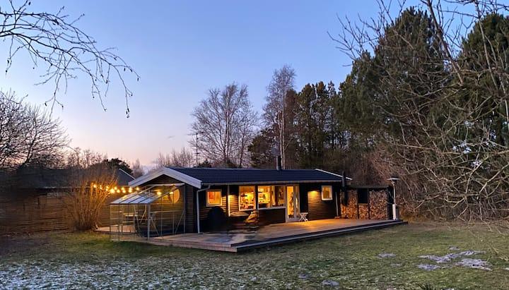 Sauna+Pejs+Wifi+Cykler+Gratis Brænde og Kaffe 😘
