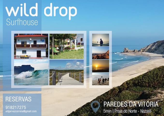 WILD DROP surfcamp (Double Room) - Nazaré - Ev