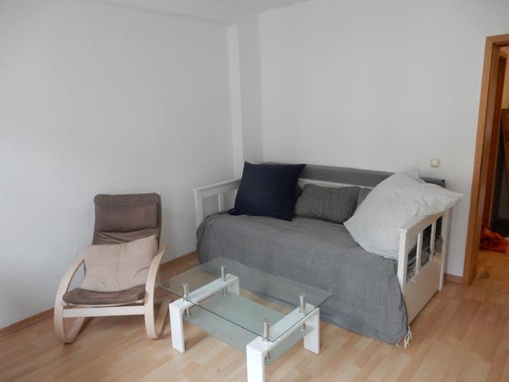 Zentrale und ruhige Wohnung mit Balkon mit Netflix
