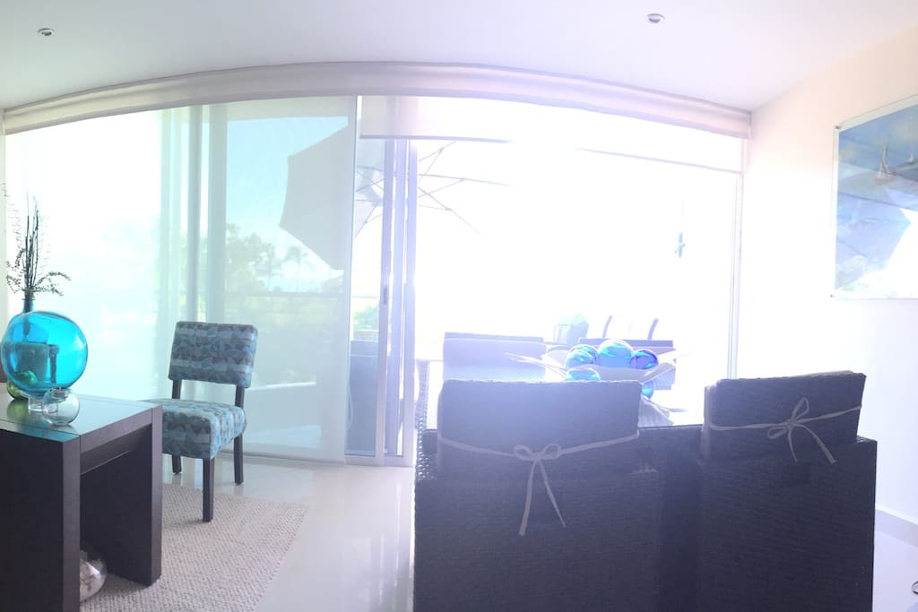 Main Floor: Kitchen, Living room, Dinning room, Terrace. (Air Conditioner, Ceiling Fan, TV with Cable System, Wifi in all the Condo)