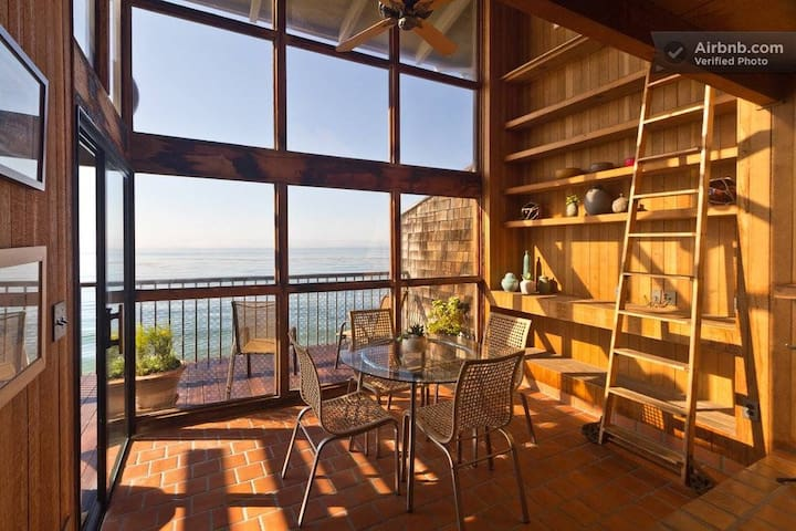 Oceanfront Summerland Beach House, Sweeping Views