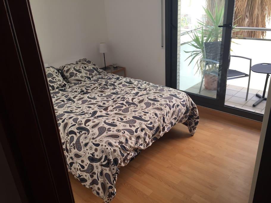 Bright modern bedroom