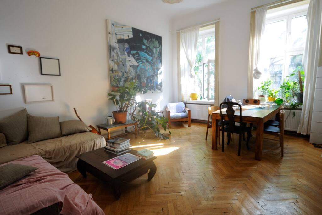 The living room - the apartment's main hub