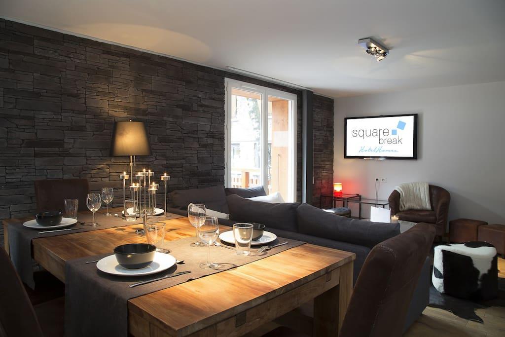Luxueux appartement au ski pour 8 personnes apartments for Appartement design ski