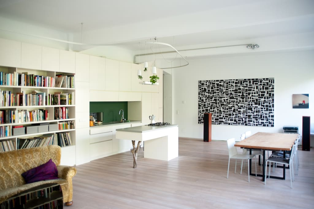 Living & dining room  & kitchen