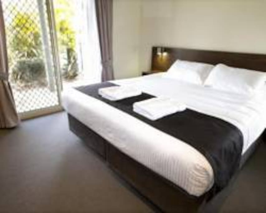 Two bedroom on first floor. One with double bed second with two single beds