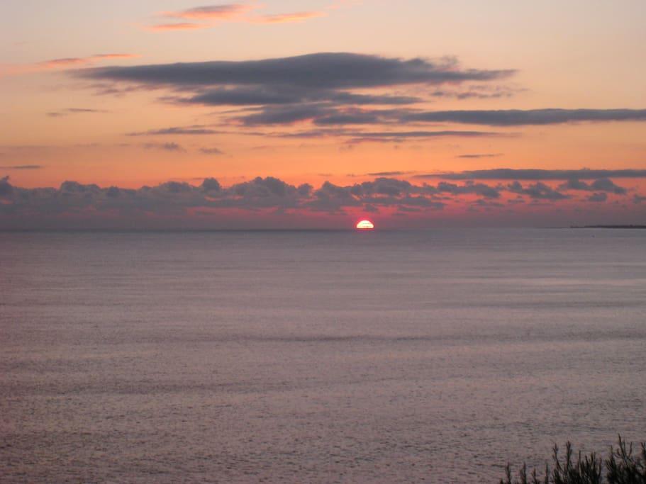 Il tramonto visto dalla terrazza