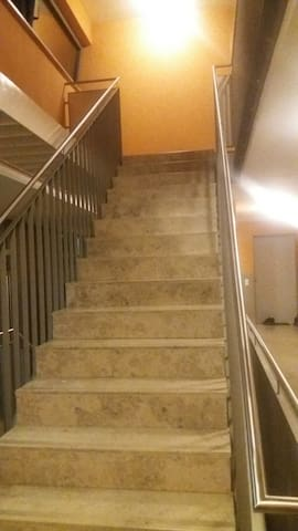 2nd staircase to the apartment.