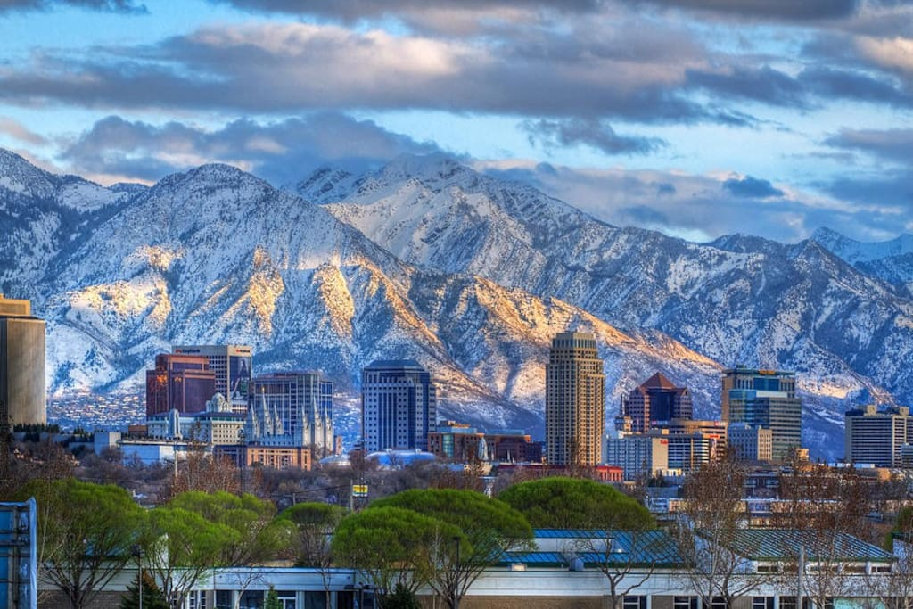 This photo of downtown Salt Lake City was taken just a few blocks West of our house.