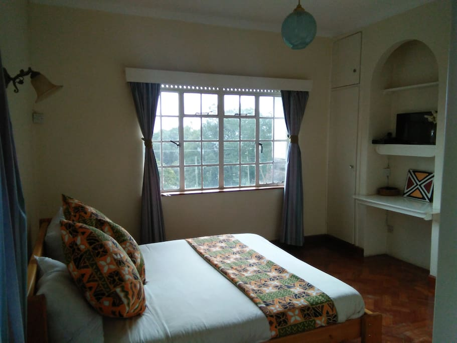 Cozy double room with a lovely view of the garden