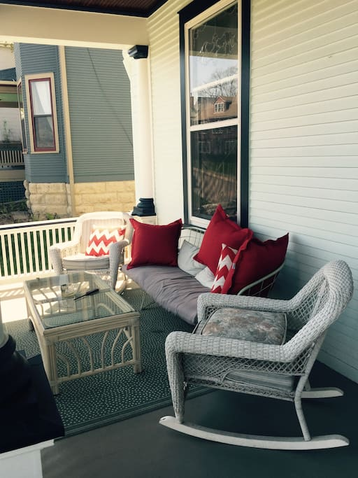 comfortable porch seating!