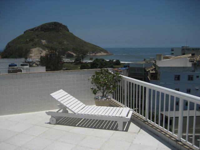 Suite c/ar, cobertura de frente p/mar(100m praia) - Rio de Janeiro - Apartamento