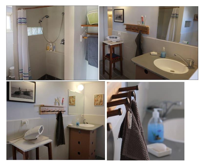 Spacious bathroom & toilet