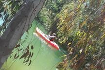 Canoeing in the Tamassos river dam