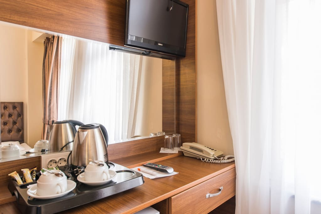 Each room offers standard features such as complimentary tea-coffee, a minibar, working desk, safety deposit box,