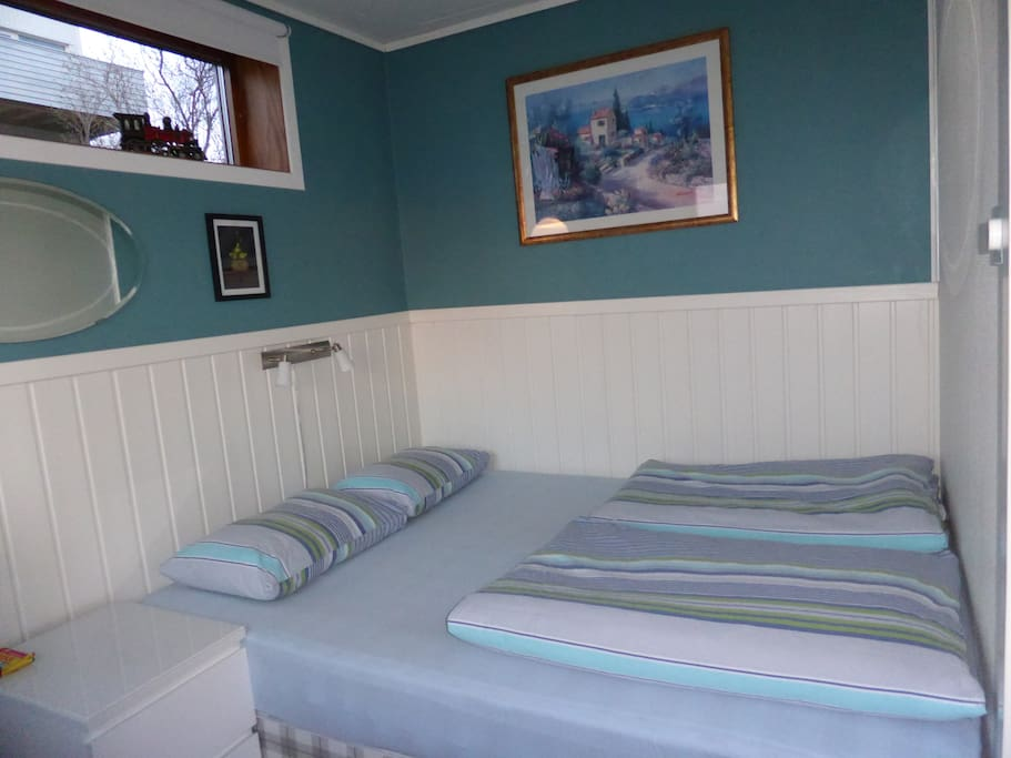 Private bedroom. 6,5 square meters. With floor heating.