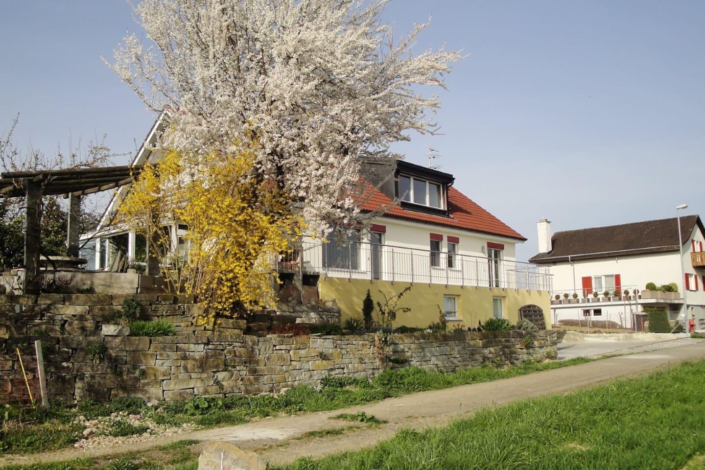 Unser Haus mit Garten und Terrasse