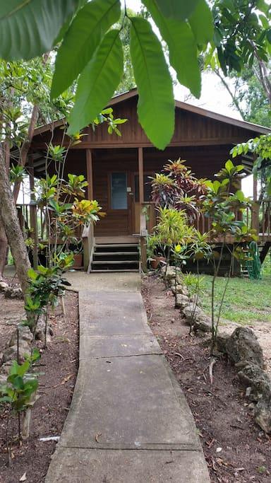 Walkway leading to Hibiscus dormitory