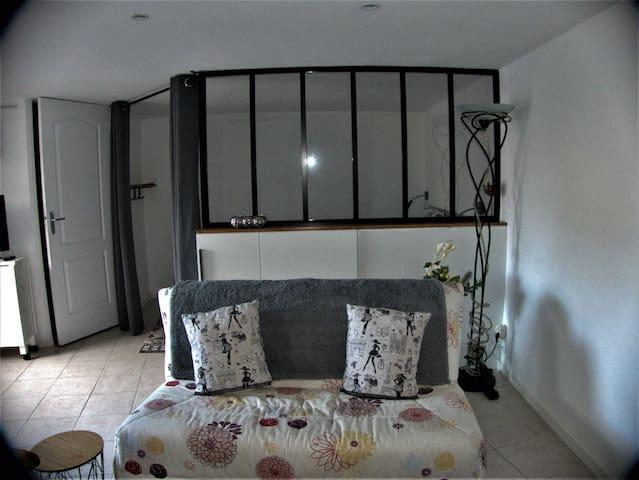 Appartement T1 BIS 2/3 personnes, bord de Loire