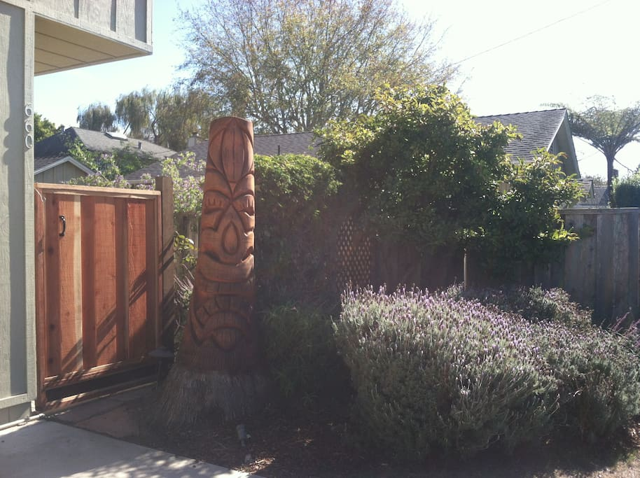 Tiki and front gate
