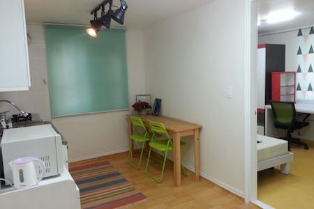 We have 2 good&clean houses available near Mangwon(line no.6) & Hapjeong(line no. 2 and 6) station.   It is very close to subway station, other convenient facilities and hot places such as Hongdae, Ewha, Shinchon, etc