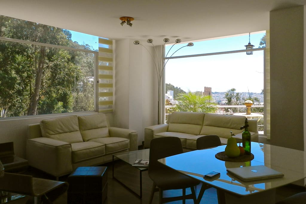 natural LIGHT spaces, beautiful views of QUITO and surrounded by FOREST