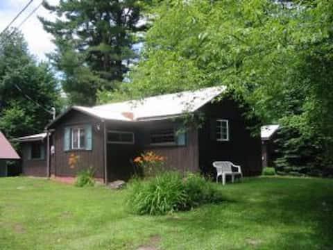 Cottage on quiet Adirondack Lake.