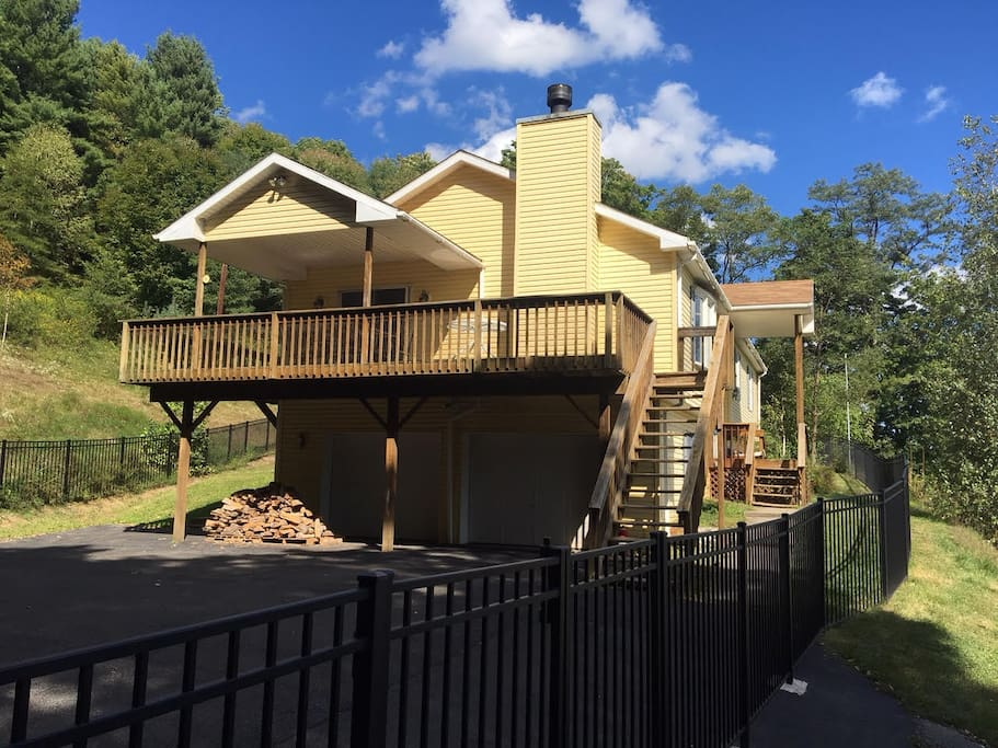 This entire house would be yours! Part of the deck is covered and partly uncovered with a beautiful view of Windham Mountain!