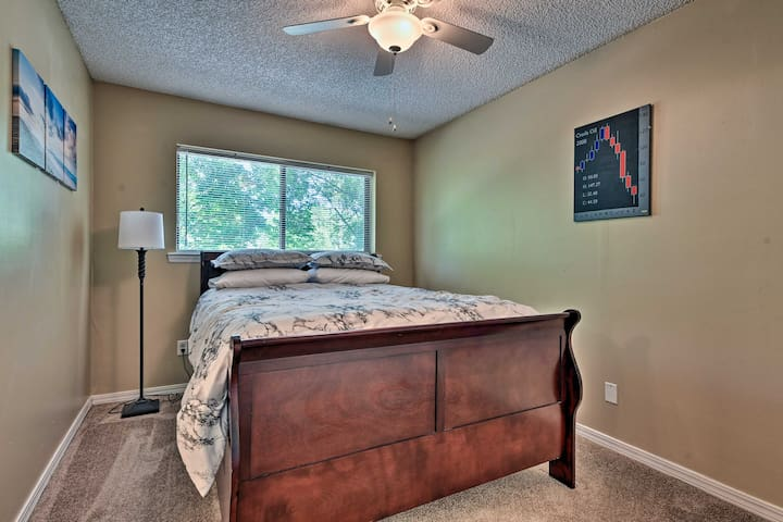 Couples will truly enjoy this queen bed in bedroom 2.
