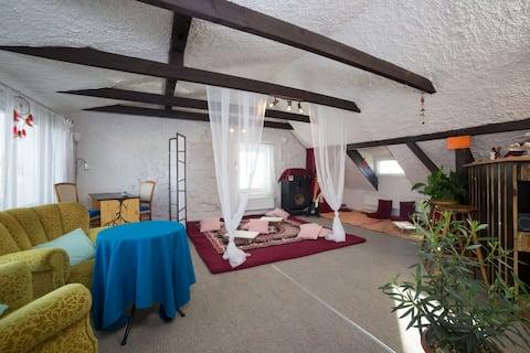 Studio flat in house Dobříš near Prague