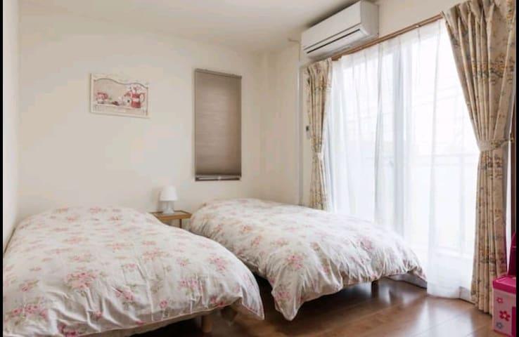 """新宿14min""""都立家政駅前60㎡平方3LDK""""2-8人家族旅行Room"""