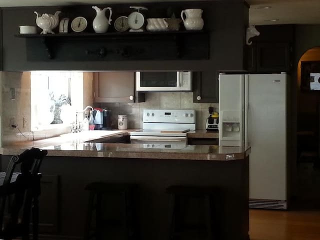 Modern Kitchen and eating area.