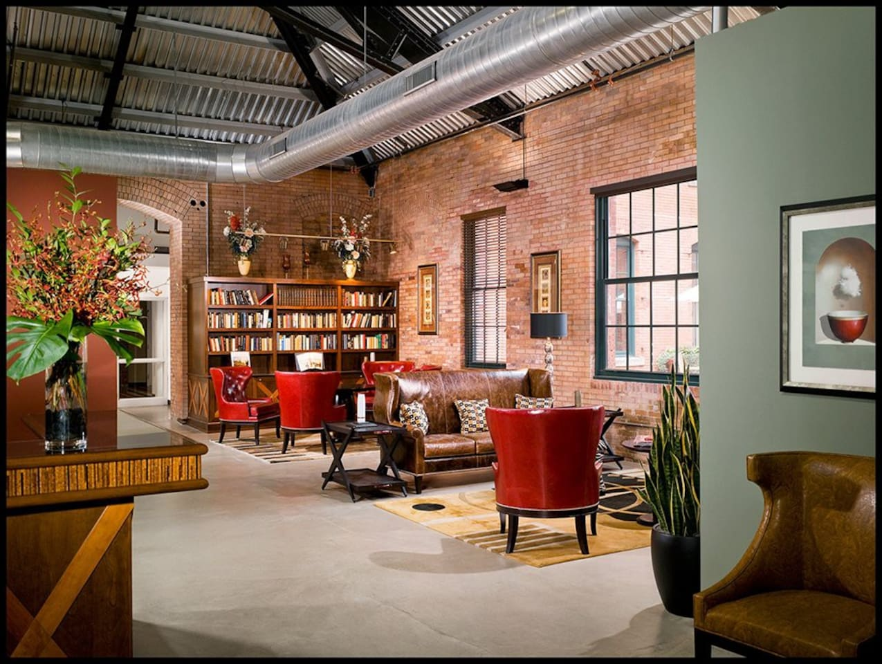 The lobby/sitting area.