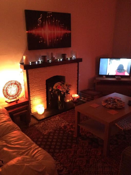 Very cosy warm sitting room with TV