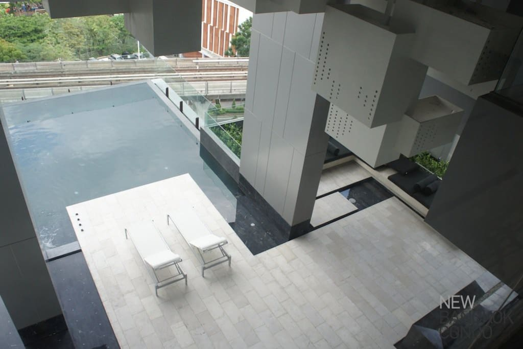 The infinity pool looking over the city on the 7th floor