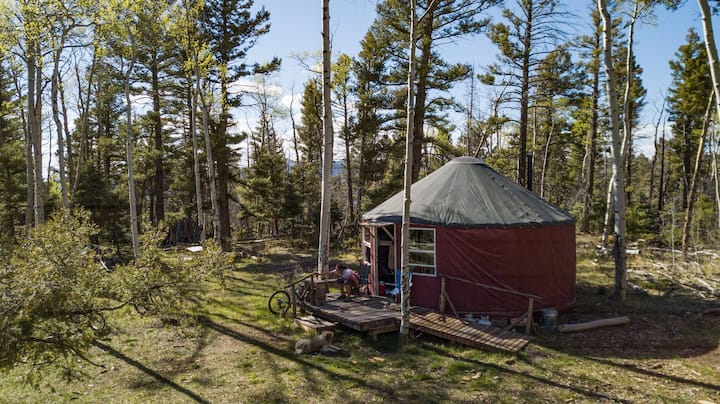 Long John Hike-in Camping Yurt