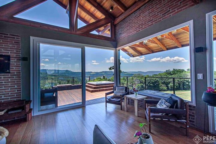 Casa de Campo com vista incrível e muito conforto
