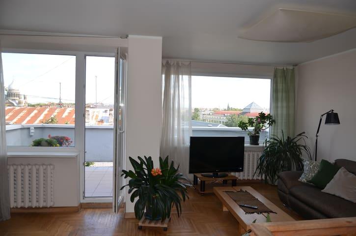Bright, sunny loft in the centre of the Riga