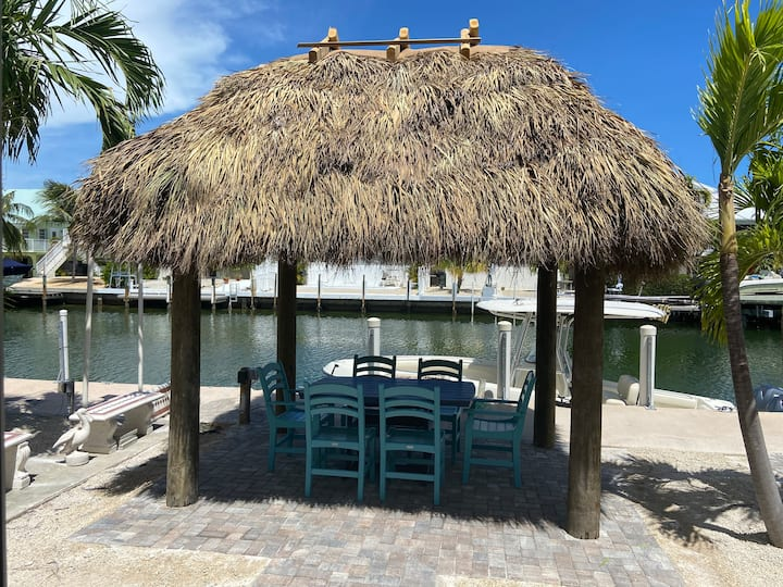 Updated Key Colony  Tiki Hut-37.5 Dock-Cabana Club