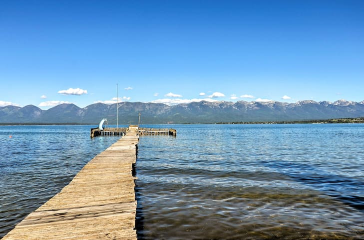 Polson Home On Flathead Lake w/Pvt Dock+Mtn Views!