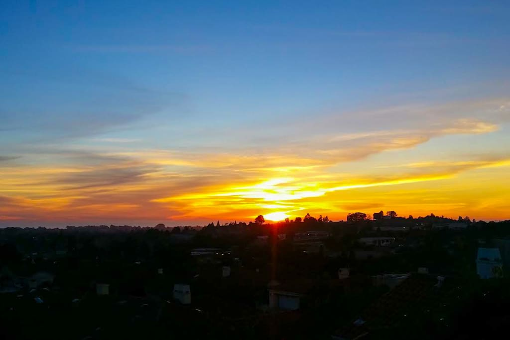 Amazing Sunset views from the back patio