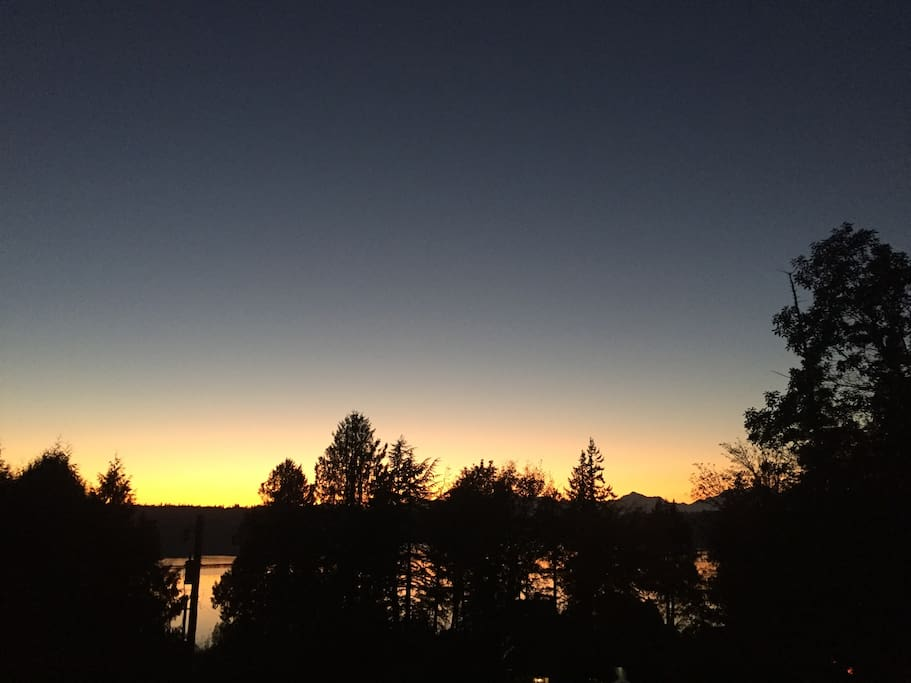 The sunsets over the Puget Sound are breathtaking!  Especially from the hot tub. :)