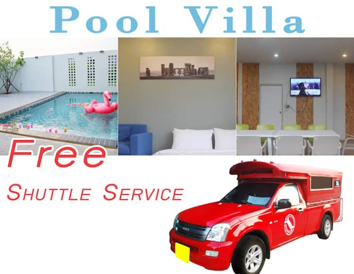Pool Villa Maerim • Free Shuttle!! Party•Relax•Fun