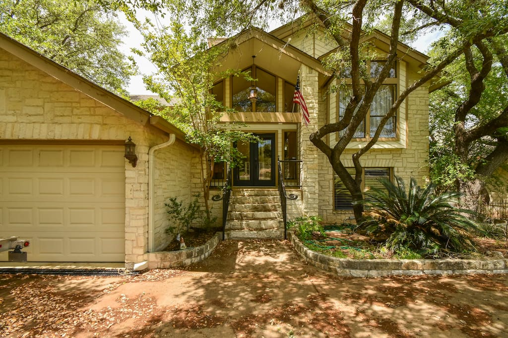 This upscale split-level home is truly spacious - great for a family getaway.